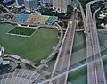 Singapore The Float@Marina Bay & Helix Bridge viewed from Marina Bay Sands.jpg
