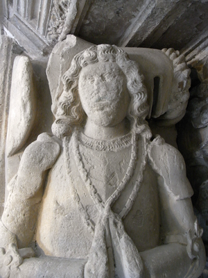 John Speke (1442-1518) - Detail of Speke's effigy in the Speke Chantry, Exeter Cathedral