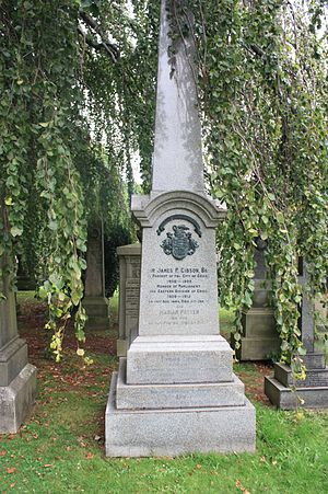 Sir James Gibson, 1st Baronet - Sir James Gibson's grave, Dean Cemetery