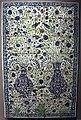 Siria, damasco, pannello con composizione floreale, 1550-1650 ca..JPG