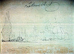 Sketch of a battle & Early Ships off Madeira on reverse.jpg