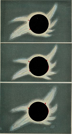 Solar eclipse of August 18, 1868 - Image: Sketches of the total solar eclipse, 1868 (19745966082)