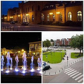 Skierniewice Place in Łódź Voivodeship, Poland