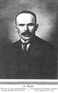 Rapolas Skipitis Lithuanian jurist