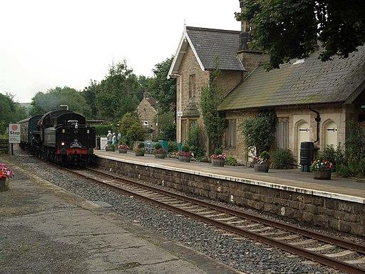 Sleights station steam train