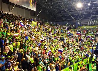 Zlatorog Arena - Slovenian fans in the Zlatorog Arena