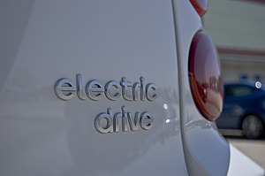 """Smart electric drive - Smart Fortwo """"electric drive"""" badge."""