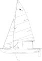 Snipe dinghy.svg