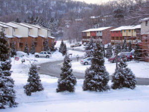 February 2007 North American blizzard - Snow coverage in Shaler Township, Pennsylvania, a suburb of Pittsburgh.