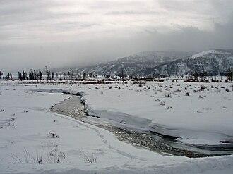 Soda Butte Creek - Image: Soda Butte Creek January 2009