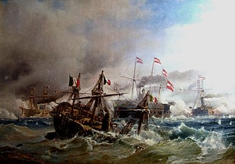 Battle of Lissa (1866) - The Sea Battle of Lissa by Carl Frederik Sørensen, 1868.