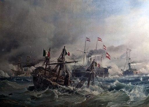 Soerensen Seeschlacht bei Lissa 1866 Rammstoss