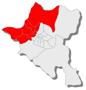 25th MMC – Sofia-city 25 - Карта на районите, които влизат в МИР 25