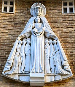 Soho, Notre Dame De France Church, Statue of Our Lady of Mercy.jpg