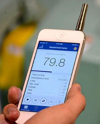 Sound level meter - Image: Soundlevelmeterapp