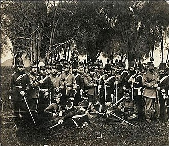 Uniforms of the Australian Army - Image: South Australian Volunteer Forces in 1860