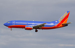 I took this photo of a Southwest Airlines Jet ...