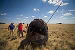 Soyuz TMA-03M capsule shortly after landing (201207010015HQ).jpg