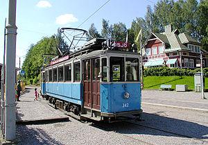 Malmköping - Image: Spårvagn i Malmköping Flen