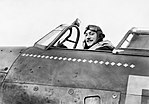 Squadron Leader Robert Stanford Tuck, commanding No. 257 Squadron, in the cockpit of his Hawker Hurricane at Martelsham Heath, November 1940. CH1680.jpg
