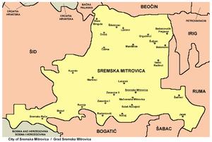 sremska mitrovica mapa Град Сремска Митровица — Википедија, слободна енциклопедија sremska mitrovica mapa