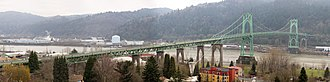 St. Johns, Portland, Oregon - Image: St.Johns Bridge Pano 1