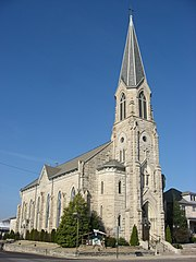 St. Vincent de Paul in Bedford, front and southern side vertical