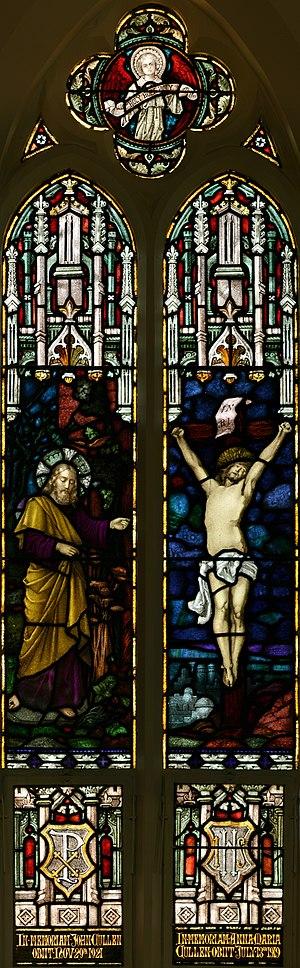 StJohnsAshfield StainedGlass Crucifixion