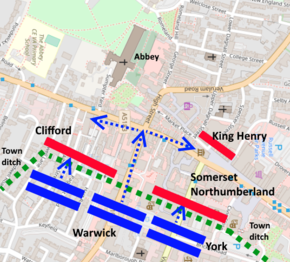 Map of the 1st battle of St Albans