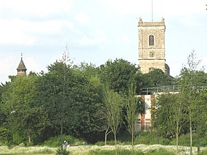 Ladywell Fields - St Mary the Virgin church viewed from Ladywell Fields photo: Stephen Craven, geograph.org.uk