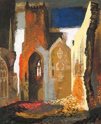 John Piper (artist) - St Mary le Port, Bristol, 1940, (Tate)