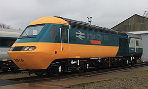 British Rail Class 43 (HST) - Powercar 43002 restored to the original Intercity 125 livery in May 2016
