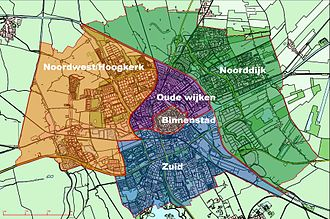 Groningen - Boroughs of Groningen, which have no political or physical significance