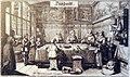 Stadtmuseum Rapperswil - Eine wohlhabende Zürcher Familie bei Tisch, Kupferstich von Konrad Meyer, 1645, ZB Zürich 2013-02-02 16-42-29 (P7700).JPG
