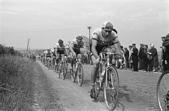1963 Tour de France - Riders during the fourth stage between Roubaix and Rouen