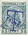 Stamp of Albania - 1914 - Colnect 376672 - Overprinted T and Takse in blue.jpeg