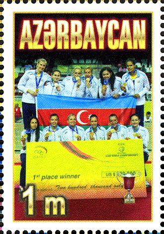 Telekom Baku - Stamp of Azerbaijan 2011 FIVB clubs world champions