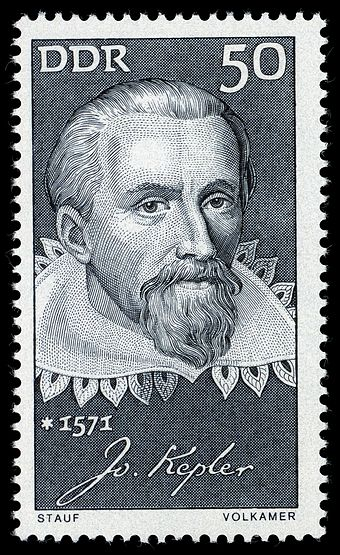 The GDR stamp featuring Kepler Stamps of Germany (DDR) 1971, MiNr 1649.jpg