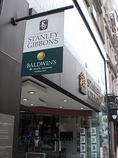 Stanley Gibbons company which specialises in the retailing of collectable postage stamps and similar products