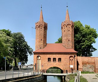 Stargard - Brama Młyńska, one of two European water gates still in existence