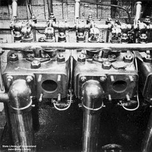 Calopus (ship) The engine of the 'Calopus', Th...