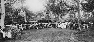 1891 Australian shearers' strike - Shearers' strike camp, Hughenden, central Queensland, 1891.