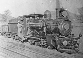 Chillagoe Railway & Mining Co. - Locomotive no. 3 of the Chillagoe Railway was the first engine on the Etheridge line