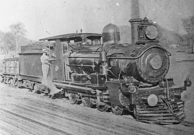 File:StateLibQld 2 152103 Locomotive no. 3 of the Chillagoe Railway was the first engine on the Etheridge line.jpg