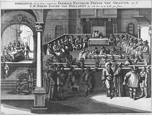 Politics and government of the Dutch Republic - Meeting of the States of Holland and West Friesland (Staten van Holland en West-Friesland) in 1625