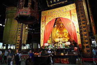 Puji Temple - Statue of Avalokiteśvara Bodhisattva in Puji Temple