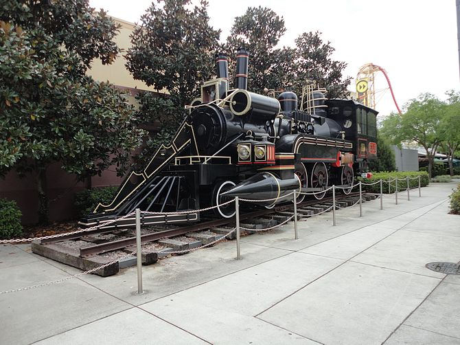English: Steam Locomotive in Universal Studios...