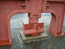 Steam hammer anvil, Blaenavon.jpg
