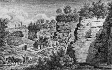 Charmant Steinbruch Des Heilbronner Sandsteins Um 1835