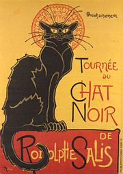 Gato negro en un cartel de Steinlen (1896).